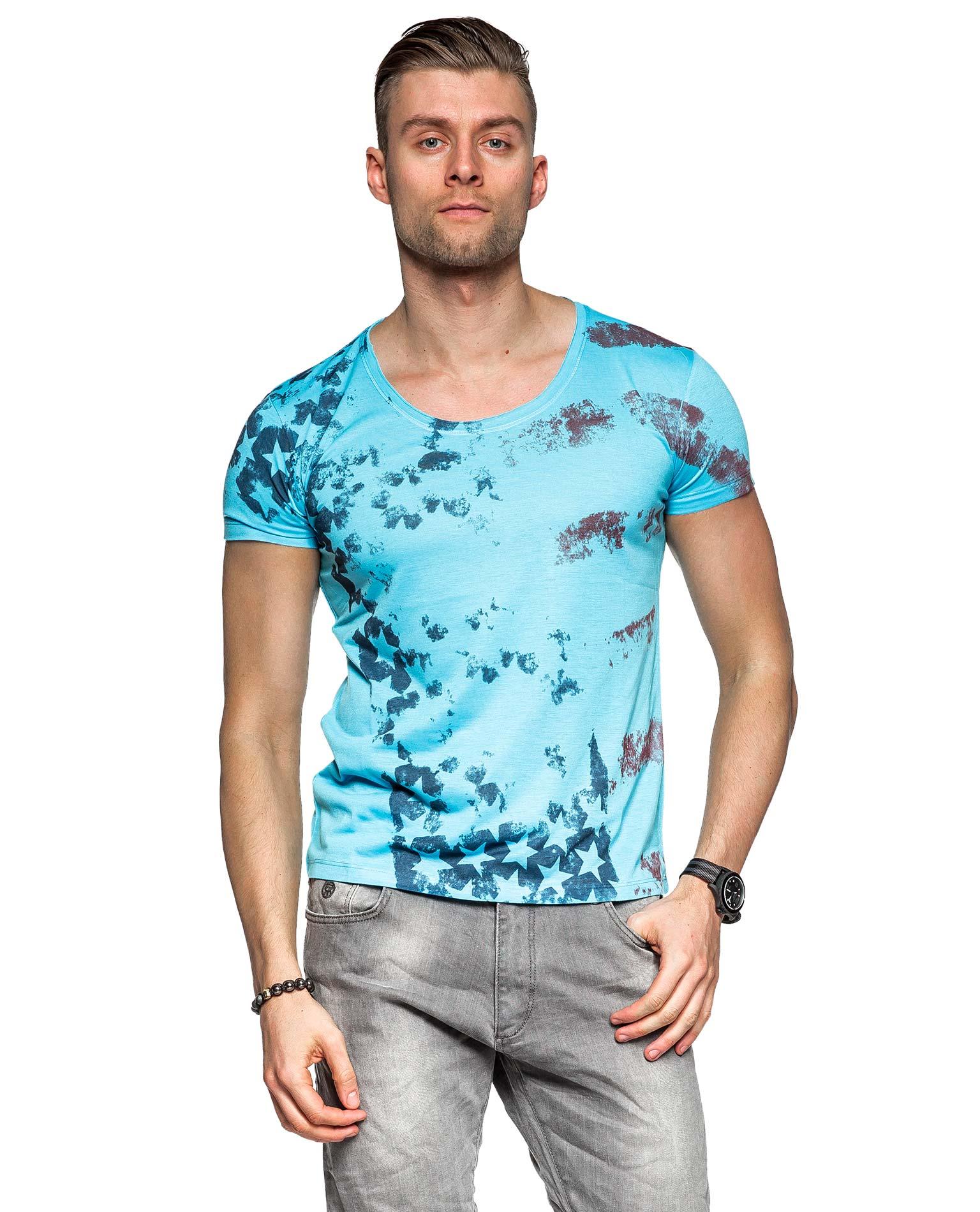 Blue usa young rich 1116 print t shirts for T shirt printing usa