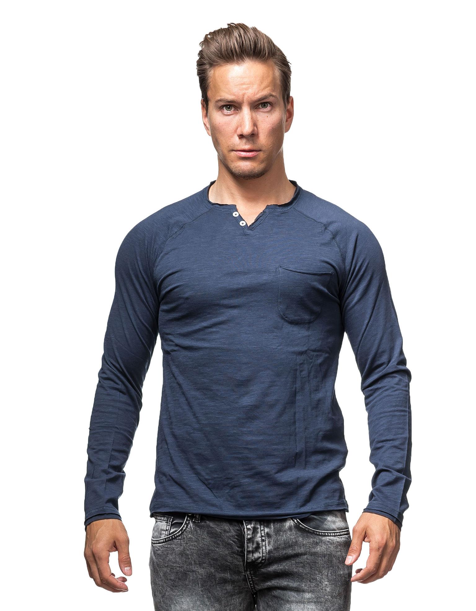 Tom Tailor Olkalaukku : Henley blue tom tailor long sleeves jerone